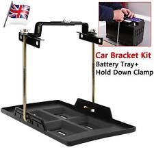 Adjustable Universal Car Storage Battery Tray Holder Base Clamp Bracket Kit