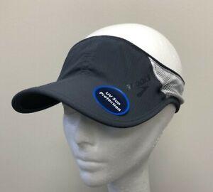 BROOKS Stealth Visor Running Athletic Hat Asphalt/Black UV Protection OSFA NEW