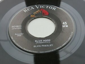 ELVIS PRESLEY  USA 45    BLUE MOON    JUST BECAUSE   GOLD STANDARD RCA VICTOR 45