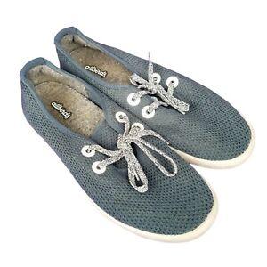 Allbirds Mens 8 Tree Skipper Boat Shoes Blue Green Lace Up