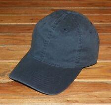Washed / Worn Look - Plain Baseball Cap - Ajustable Strap Baseball Hat - Navy