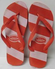 HAVAIANAS RED AND WHITE FLIP FLOPS MENS SIZE US - 9 EU - 43/44 CONFIRM MEASUREME