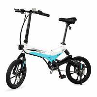 Swagcycle EB-7 Folding Electric Bike 36V Lithium-ion Battery w/ 350W Motor White