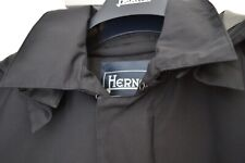 HERNO LAMINAR GORE-TEX TECH BLACK TRENCH COAT RAINCOAT IT 50 / 40 NEW