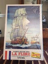 ORIGINAL SEALED VINTAGE 1965 LINDBERG MODEL KIT FRENCH SAILING SHIP LA FLORE