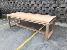 Aus Made Solid Tasmanian Oak Hardwood Timber Balmoral Dining Table 2400/1050