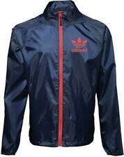 More details for stone roses ian brown tribute adored showeproof bomber jacket navy with red zip