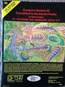Dungeons and dragons module S3 Expedition to the barrier peaks.