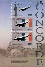 Air France CONCORDE F-BTSD (213) & Eiffel Tower Aircraft Stamp Sheet/2003 Gambia