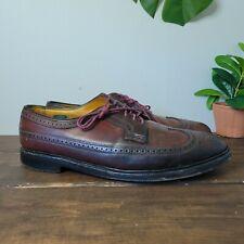 Vtg Florsheim Shell Cordovan Shoes in Brown Long Wing Blucher 93605 Mens 11.5