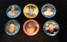 Vintage 1984 Fun Food Major League Baseball Player Buttons Lot of 6