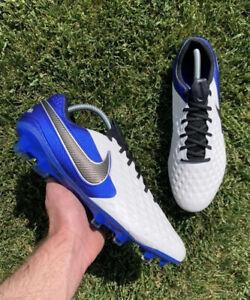 Nike Tiempo Legend 8 Elite FG White Hyper Royal Size 10.5 Soccer (AT5293 104)