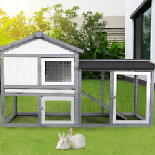 Wooden Pet House Cat Room Dog Puppy Large Kennel Indoor&Outdoor Shelter w/Roof