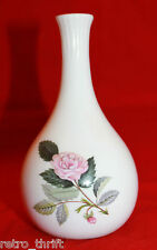 Wedgwood Bone China White Hathaway Rose Flower Bud Vase Made in  England AS-IS