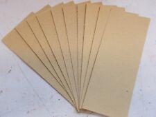 10 Sheets mixed grade Sandpaper 60 - 80 - 120 for orbital sanders 23 x 9.5 cm