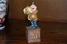 Efteling Holland Gnome Letter M Melon Statue The Laaf Collection 1998 Ltd Ed