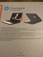 "New HP 11.6"" Touchscreen Chromebook, 11+ Hour 11-v032, 4g/16g, free shipping"