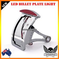 Side Mount License Plate Bracket LED Tail Brake Light 4 Harley Bobber Chopper