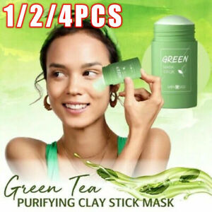 Green Tea Purifying Clay Stick Mask Oil Control Anti-Acne Eggplant Fine Solid^^