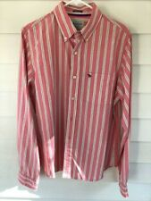 Abercrombie and Fitch Co. Muscle Button Down Long Sleeve Shirt Pink Yellow XL