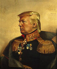 Donald Trump Hand painted Portrait Oil Painting on Canvas Unframed 32