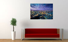 LONDON EVENING CITY LIGHTS NEW GIANT LARGE ART PRINT POSTER PICTURE WALL