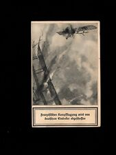 WWI Germany Fieldpost Air Dogfight Drama Military Free Soldier Mail Postcard 3k
