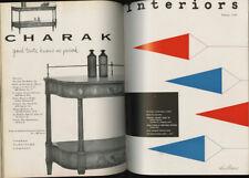 1956 Herbert Bayer INTERIORS 4-Volume Bound SET  Isamu NOGUCHI La Gardo TACKETT