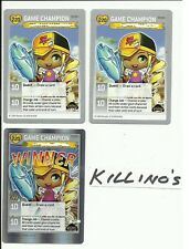 Maple story promos P4/Y1 Winner foil and 2x Game Champion P5/Y1 Near Mint