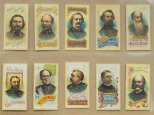Cigarette Cards (Complete 30/30) Generals of the American Civil War (REPRINTS)