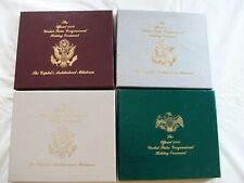 """4 """"Official United States Congressional Holiday Ornaments / The Capitol"""" N Mint"""