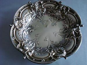REED BARTON sterling silver 1 ART NOUVEAU REPOUSSE BOWL DISH ~ LES SIX FLEURS