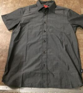 *BRAND NEW* Men The North Face Short sleeves Shirt Slate Woven RTO Gray Sz Med