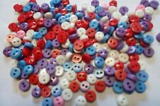 SCONTO STOCK  1000 MINI BOTTONI  COL MISTI  MM 6  CUCITO CREATIVO  BUTTONS