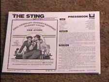 STING PRESSBOOK COMPLETE PAUL NEWMAN