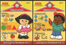 Lot 2 FISHER PRICE Little People WORKBOOKS New PRESCHOOL Early LEARNING Shapes