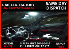 NISSAN JUKE 2011-2016 COMPLETE LED INTERIOR BULB SET XENON WHITE