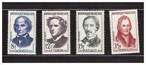 s23366) FRANCE 1958 MNH** Nuovi** Famous scienstists 4v Y&T 1146/49