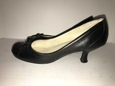 Steve Madden Womens Heels 8M Black Pumps Shoes Leather Dress Casual Work