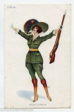 WW1. patriotique . Patriotic. Les femmes SOLDAT . ITALIE . Women soldier. ITALY