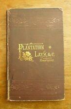 1884 PLANTATION LAYS Belton O'Neall Townsend SOUTH CAROLINA Reconstruction POEMS