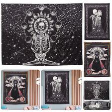 Halloween Skelett Tarot Strandtuch Wandbehang Tapisserie Wandteppich Deko DE