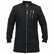 Brave Soul Zip Polyester Long Coats & Jackets for Men