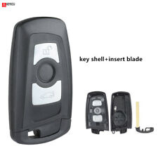 Remote Key Case for BMW New 5 Series Smart Key Shell Fob 3 Button + insert key