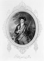 Patriot YOUNG GENERAL GEORGE WASHINGTON President ~ Old 1870 Art Print Engraving