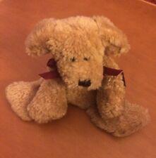 "Boyd's Bears Flat Brown Dog Named Merton Flatberg 8"""