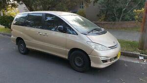 2004 Toyota Tarago Wrecking ACR30R 2AZFE 4 cyl Automatic Gold Power Auto Options