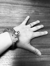 Handcuff bracelet - bachelor, bachelorette, S&M, gothic, metal, prison, sex