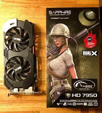 Sapphire dual x Radeon AMD hd7950 3gb GDDR 5 11196-19-20g PCI-e Boost