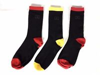 Giorgio Formal 3 Pack High Socks Black Junior Mens  UK 1 - 6 A142-2